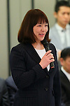 Ayumi Tanimoto, March 26, 2014 : a conference held by directors of Tokyo Organizing Committee of the Olympic and Paralympic Games <br /> in Tokyo, Japan. (Photo by Yohei Osada/AFLO SPORT)