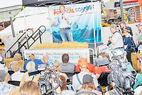 Democratic presidential candidate Tom Steyer speaks at the Political Soapbox at the Iowa State Fair in Des, Moines, Iowa, on Sun., Aug. 11, 2019.