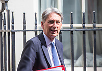 Chancellor of the Exchequer Philip Hammond leavesthe cabinet meeting at 10 Downing street