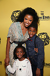 Renee Elise Goldsberry and family attends the 20th Anniversary Performance of 'The Lion King' on Broadway at The Minskoff Theatre on November e, 2017 in New York City.