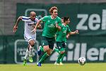 07.07.2019, Parkstadion, Zell am Ziller, AUT, TL Werder Bremen Zell am Ziller / Zillertal Tag 03 - FSP Blitzturnier<br /> <br /> im Bild<br /> David Pisot (Karlsruher SC #05), <br /> Joshua Sargent (Werder Bremen #19), <br /> <br /> im dritten Spiel des Blitzturniers SV Werder Bremen vs Karlsruher SC, <br /> <br /> Foto © nordphoto / Ewert