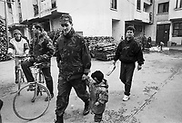 - Goradze (Bosnia-Herzegovina), Muslim enclave for long time besieged  by Serb troops (January 1996)<br /> <br /> - Goradze ( Bosnia-Herzegovina) , enclave musulmana a lungo assediata dalle truppe serbe (gennaio 1996)
