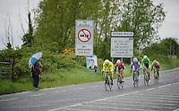 &quot;Speed Kills&quot;: f5 men breakaway group of the day: Gert Dockx (BEL/Lotto-Belisol), Giorgio Cecchinel (ITA/Neri Sottoli), Yonder Godoy (VEN/Androni Giocattoli), Miguel Angel Rubiano (COL/Columbia) &amp; Maarten Tjallingii (NLD/Belkin)<br /> <br /> Giro d'Italia 2014<br /> stage 3: Armagh (NI) - Dublin (IRL) 187km