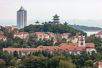 Japanese Middle School (Now Part Of A University), And Pagoda, Qingdao (Tsingtao).