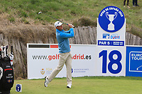 Jens Dantorp (SWE) on the 18th tee during Round 2 of the Open de Espana 2018 at Centro Nacional de Golf on Friday 13th April 2018.<br /> Picture:  Thos Caffrey / www.golffile.ie<br /> <br /> All photo usage must carry mandatory copyright credit (&copy; Golffile | Thos Caffrey)
