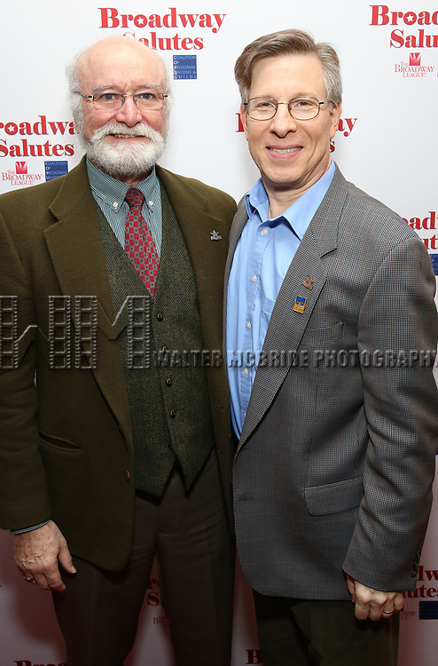 Edward Hyland and Ira Mont attends Broadway Salutes 10 Years - 2009-2018 at Sardi's on November 13, 2018 in New York City.
