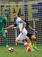 Marek Hamsik  during the  italian serie a soccer match,between Inter FC  and SSC Napoli      at  the San Siro   stadium in Milan  Italy , April  30, 2017