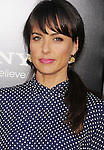 WESTWOOD, CA- AUGUST 07: Actress Constance Zimmer arrives at the Los Angeles premiere of 'Elysium' at Regency Village Theatre on August 7, 2013 in Westwood, California.