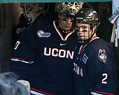 Adam Huska (UConn - 30), Derek Pratt (UConn - 2) - The University of Maine Black Bears defeated the University of Connecticut Huskies 4-0 at Fenway Park on Saturday, January 14, 2017, in Boston, Massachusetts.