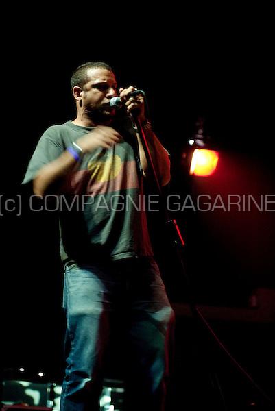Hip-hop MC and producer Mike Ladd performing at the De Nachten festival in De Singel, Antwerp (Belgium, 09/11/2008)