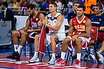 Rio Natura Monbus Obradoiro's player Alberto Corbacho, Real Madrid's player Jaycee Carroll and UCAM Murcia's player Billy Baron during the 3 shot contest of Supercopa of Liga Endesa Madrid. September 24, Spain. 2016. (ALTERPHOTOS/BorjaB.Hojas)