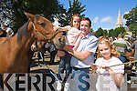 Danielle, Dan and Muirosa O'Leary from Stagmount, Rathmore Pictured at Kenmare fair day on Saturday.