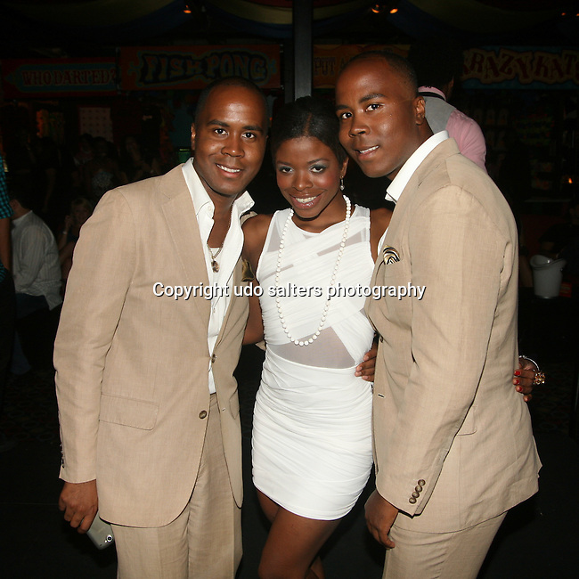 """Quarles Brothers and Jori Jordan attend SACHIKA Fall 2010 Collection """"Runway in a Circus"""" Fashion Show held at Carnival, NY 8/20/10"""