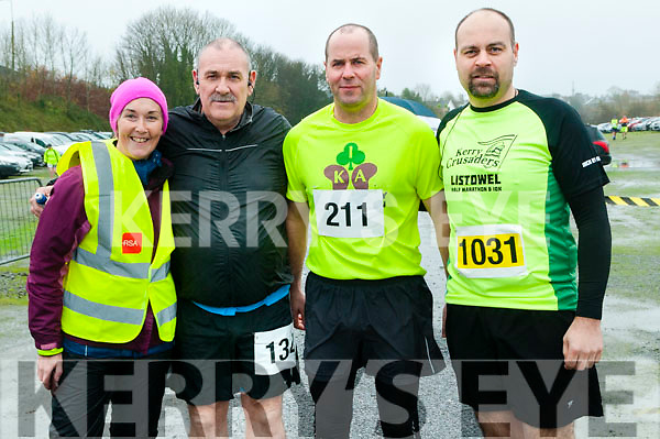 Listowel Half Marathon & 10k: Pictured at the Listowel half marathon & 10k  organised by the Kerry Crusaders in Listowel on Saturday morning last were Tina griffin, Pat Mockett, Mike Sheehy & Mike Collins.