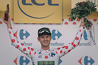 Polka Dot Jersey / KOM leader Nathan Brown (USA/Cannondale-Drapac) on stage<br /> <br /> 104th Tour de France 2017<br /> Stage 3 - Verviers › Longwy (202km)