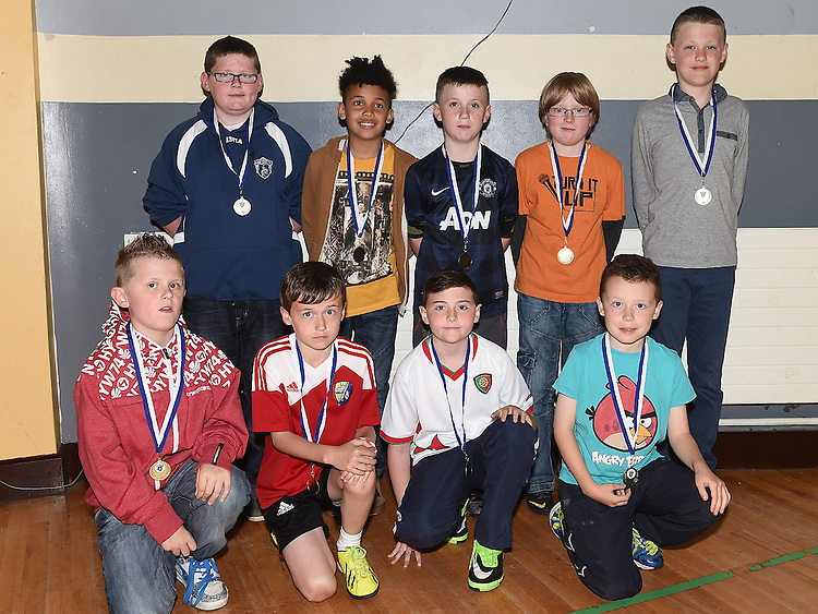 Under 10 players pictured at Ardee Celtic underage awards night in Ardee Parish Centre. Photo:Colin Bell/pressphotos.ie