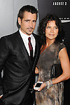 HOLLYWOOD, CA - AUGUST 01: Colin Farrell and Claudine Farrell arrive at the Los Angeles Premiere of 'Total Recall' at Grauman's Chinese Theatre on August 1, 2012 in Hollywood, California.