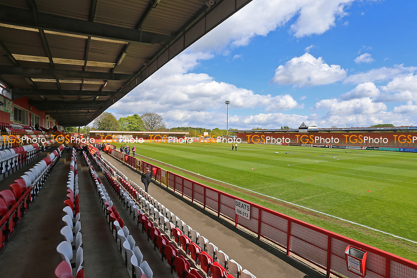 General view of the ground during Stevenage vs Mansfield Town, Sky Bet EFL League 2 Football at the Lamex Stadium on 22nd April 2017