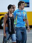 Motorsport / Formula 1: Grand Prix Italy 2006, Fernando Alonso (ESP, Renault F1 Team) with his girlfriend Raquel del Rosario