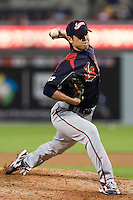 19 March 2009: #39 Tetsuya Yamaguchi of Japan pitches against Korea during the 2009 World Baseball Classic Pool 1 game 6 at Petco Park in San Diego, California, USA. Japan wins 6-2 over Korea.