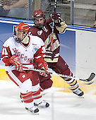 Nick Licari, Brett Motherwell - The University of Wisconsin Badgers defeated the Boston College Eagles 2-1 on Saturday, April 8, 2006, at the Bradley Center in Milwaukee, Wisconsin in the 2006 Frozen Four Final to take the national Title.