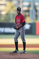 AZL Diamondbacks starting pitcher Alex Valdez (32) prepares to deliver a pitch during an Arizona League game against the AZL Angels at Tempe Diablo Stadium on June 27, 2018 in Tempe, Arizona. The AZL Angels defeated the AZL Diamondbacks 5-3. (Zachary Lucy/Four Seam Images)