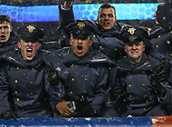 Philadelphia, PA - December 9, 2017:   Army Black Knights cadets celebrate during the 118th game between Army vs Navy at Lincoln Financial Field in Philadelphia, PA. (Photo by Elliott Brown/Media Images International)
