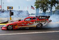 Jun 10, 2017; Englishtown , NJ, USA; NHRA funny car driver Jonnie Lindberg during qualifying for the Summernationals at Old Bridge Township Raceway Park. Mandatory Credit: Mark J. Rebilas-USA TODAY Sports