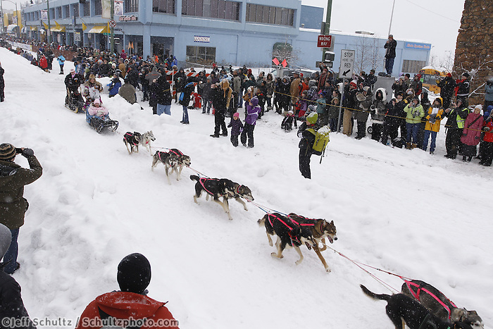 DeeDee Jonrowe Saturday, March 3, 2012  Ceremonial Start of Iditarod 2012 in Anchorage, Alaska.