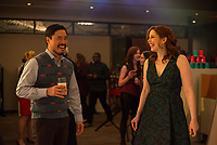 Office Christmas Party (2016)<br /> Randall Park &amp; Vanessa Bayer<br /> *Filmstill - Editorial Use Only*<br /> CAP/KFS<br /> Image supplied by Capital Pictures