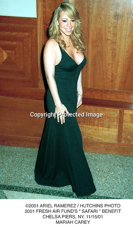 "©2001 ARIEL RAMEREZ / HUTCHINS PHOTO.2001 FRESH AIR FUND'S "" SAFARI "" BENEFIT.CHELSA PIERS, NY. 11/15/01.MARIAH CAREY."