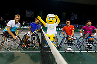 Rotterdam, The Netherlands, 14 Februari 2020, ABNAMRO World Tennis Tournament, Ahoy, <br /> Wheelchair Doubles: Stephane Houdet (FRA) and Nicolas Peifer (FRA), Alfie Hewett (GBR) and Gordon Reid (GBR).<br /> Photo: www.tennisimages.com