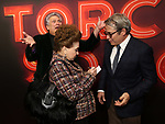 "Cindy Adams, Harvey Fierstein and Matthew Broderick attends the Broadway Opening Night of ""Torch Song"" at the Hayes Theater on Noveber 1, 2018 in New York City."