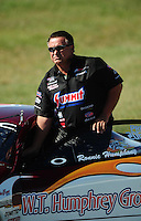 Sept. 5, 2010; Clermont, IN, USA; NHRA pro stock driver Ronnie Humphrey during qualifying for the U.S. Nationals at O'Reilly Raceway Park at Indianapolis. Mandatory Credit: Mark J. Rebilas-