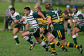 P. Talosaga heads off upfield with Pukekohe defenders in pursuit. Counties Manukau Premier Club Rugby, Pukekohe v Manurewa  played at the Colin Lawrie field, on the 17th of April 2006. Manurewa won 20 - 18.