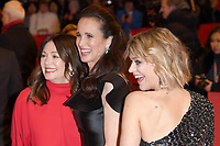 BERLIN, GERMANY - FEBRUARY 7: Iris Berben, Andie MacDowell and Heike Makatsch attend The Kindness Of Strangers premiere and Opening Night Gala of the 69th Berlinale International Film Festival Berlin at the Berlinale Palace on February 7, 2018 in Berlin, Germany.<br /> CAP/BEL<br /> ©BEL/Capital Pictures