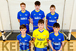 Glenflesk U15 boys team taking part in the Community Games Munster Provincial Finals in Futsal in IT Tralee Sports Complex on Saturday morning.<br /> Kneeling l to r: Callum Cronin, Stephen Moynihan and Evan Lucey.<br /> Back l to r: Ignatius O'Leary, Ben Switzer and Jamie Moynihan.
