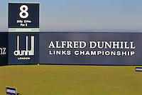 The 8th tee during Round 1 of the 2015 Alfred Dunhill Links Championship at the Old Course St. Andrews in Scotland on 1/10/15.<br /> Picture: Thos Caffrey | Golffile
