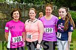 Lusy Fitzell Tralee, Ann Marie Flynn Farranfore, Martina Healy, and Brid Flynn Farranfore at the Killarney Women's mini marathon on Saturday