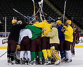 The Gophers take part in their morning skate at the Xcel Energy Center in St. Paul, Minnesota, on Friday, October 12, 2007, during the Ice Breaker Invitational.