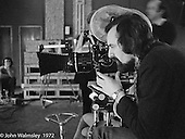Phil Meheux, BBC cameraman, shooting the Anna Scher Children's Theatre, East End of London 1972.  Phil went on to become an A-list Hollywood cinematographer (Bond films etc.).