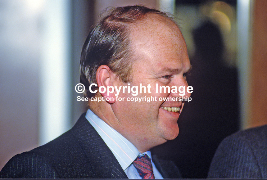 Michael Noonan, TD, Minister for Justice, Rep of Ireland, 1985010010MN2..Copyright Image from Victor Patterson, 54 Dorchester Park, Belfast, UK, BT9 6RJ..Tel: +44 28 9066 1296.Mob: +44 7802 353836.Voicemail +44 20 8816 7153.Skype: victorpattersonbelfast.Email: victorpatterson@mac.com.Email: victorpatterson@ireland.com (back-up)..IMPORTANT: If you wish to use this image or any other of my images please go to www.victorpatterson.com and click on the Terms & Conditions. Then contact me by email or phone with the reference number(s) of the image(s) concerned.