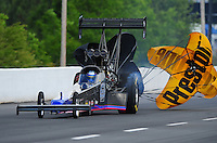 May 14, 2011; Commerce, GA, USA: NHRA top fuel dragster driver Pat Dakin during qualifying for the Southern Nationals at Atlanta Dragway. Mandatory Credit: Mark J. Rebilas-