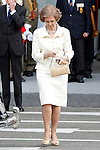 Sofia Queen of Spain attends the National Day Military Parad.October 12,2012.(ALTERPHOTOS/Acero)