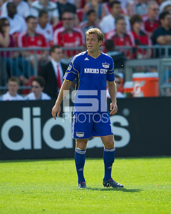 05 June 2010: Kansas City Wizards defender Jimmy Conrad #12 in action during a game between the Kansas City Wizards and Toronto FC at BMO Field in Toronto..The game ended in a 0-0 draw.