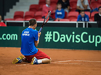 The Hague, The Netherlands, September 15, 2017,  Sportcampus , Davis Cup Netherlands - Chech Republic, Seccond Rubber: Lukas Rosol (CZE) defeats Haase and put Chech Republic in a comfortable 0-2ce<br /> Photo: Tennisimages/Henk Koster