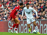 Burnley's Dwight McNeil takes on Liverpool's Trent Alexander-Arnold<br /> <br /> Photographer Alex Dodd/CameraSport<br /> <br /> The Premier League - Liverpool v Burnley - Sunday 10th March 2019 - Anfield - Liverpool<br /> <br /> World Copyright © 2019 CameraSport. All rights reserved. 43 Linden Ave. Countesthorpe. Leicester. England. LE8 5PG - Tel: +44 (0) 116 277 4147 - admin@camerasport.com - www.camerasport.com