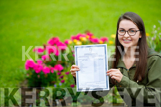 Aoife O'Mahony, Tralee, a student in Presentation Secondary School, Tralee, who received her Leaving Certificate results on Wednesday morning last.