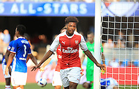 San Jose, CA - Thursday July 28, 2016: Chuba Akpom celebrates scoring during a Major League Soccer All-Star Game match between MLS All-Stars and Arsenal FC at Avaya Stadium.