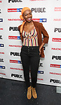 """Kimber Sprawl attends the Opening Night Celebration for """"Mother of the Maid"""" on October 18, 2018 at the Public Theatre in New York City."""